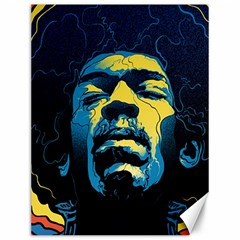 Gabz Jimi Hendrix Voodoo Child Poster Release From Dark Hall Mansion Canvas 12  x 16