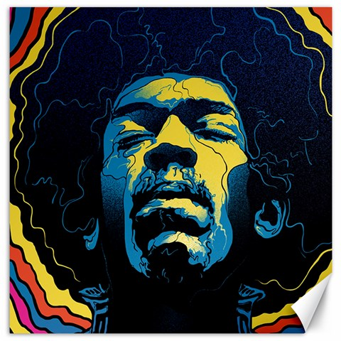 Gabz Jimi Hendrix Voodoo Child Poster Release From Dark Hall Mansion Canvas 16  x 16