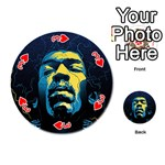 Gabz Jimi Hendrix Voodoo Child Poster Release From Dark Hall Mansion Playing Cards 54 (Round)  Front - Heart3