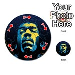 Gabz Jimi Hendrix Voodoo Child Poster Release From Dark Hall Mansion Playing Cards 54 (Round)  Front - Diamond7