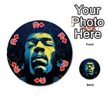 Gabz Jimi Hendrix Voodoo Child Poster Release From Dark Hall Mansion Playing Cards 54 (Round)  Front - Diamond10
