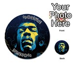 Gabz Jimi Hendrix Voodoo Child Poster Release From Dark Hall Mansion Playing Cards 54 (Round)  Front - Joker1