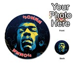 Gabz Jimi Hendrix Voodoo Child Poster Release From Dark Hall Mansion Playing Cards 54 (Round)  Front - Joker2