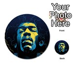 Gabz Jimi Hendrix Voodoo Child Poster Release From Dark Hall Mansion Playing Cards 54 (Round)  Back
