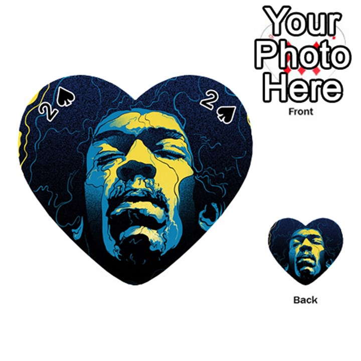 Gabz Jimi Hendrix Voodoo Child Poster Release From Dark Hall Mansion Playing Cards 54 (Heart)