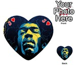Gabz Jimi Hendrix Voodoo Child Poster Release From Dark Hall Mansion Playing Cards 54 (Heart)  Front - HeartJ
