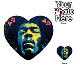 Gabz Jimi Hendrix Voodoo Child Poster Release From Dark Hall Mansion Playing Cards 54 (Heart)  Front - HeartA