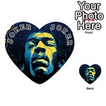 Gabz Jimi Hendrix Voodoo Child Poster Release From Dark Hall Mansion Playing Cards 54 (Heart)  Front - Joker1