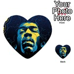 Gabz Jimi Hendrix Voodoo Child Poster Release From Dark Hall Mansion Playing Cards 54 (Heart)  Back