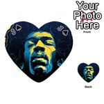 Gabz Jimi Hendrix Voodoo Child Poster Release From Dark Hall Mansion Playing Cards 54 (Heart)  Front - SpadeJ