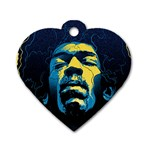 Gabz Jimi Hendrix Voodoo Child Poster Release From Dark Hall Mansion Dog Tag Heart (Two Sides) Back