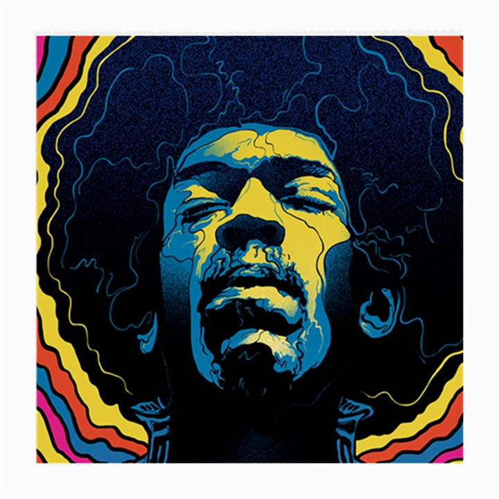 Gabz Jimi Hendrix Voodoo Child Poster Release From Dark Hall Mansion Medium Glasses Cloth (2-Side)