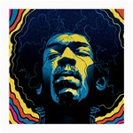 Gabz Jimi Hendrix Voodoo Child Poster Release From Dark Hall Mansion Medium Glasses Cloth (2-Side) Back