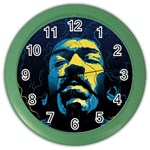 Gabz Jimi Hendrix Voodoo Child Poster Release From Dark Hall Mansion Color Wall Clocks Front