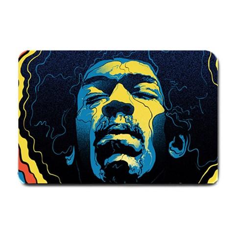 Gabz Jimi Hendrix Voodoo Child Poster Release From Dark Hall Mansion Small Doormat