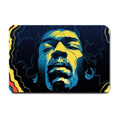 Gabz Jimi Hendrix Voodoo Child Poster Release From Dark Hall Mansion Small Doormat