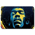 Gabz Jimi Hendrix Voodoo Child Poster Release From Dark Hall Mansion Large Doormat  30 x20 Door Mat - 1
