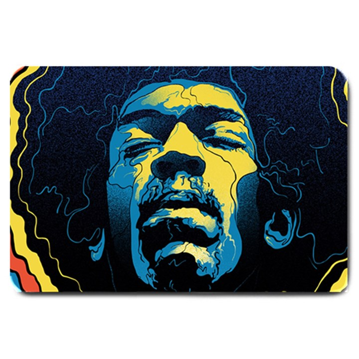 Gabz Jimi Hendrix Voodoo Child Poster Release From Dark Hall Mansion Large Doormat