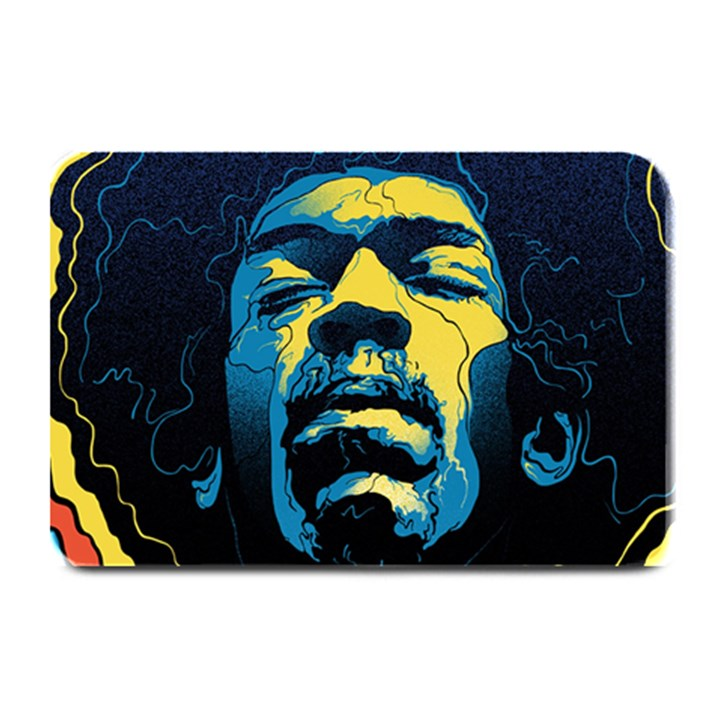 Gabz Jimi Hendrix Voodoo Child Poster Release From Dark Hall Mansion Plate Mats