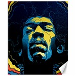 Gabz Jimi Hendrix Voodoo Child Poster Release From Dark Hall Mansion Canvas 11  x 14   14 x11 Canvas - 1