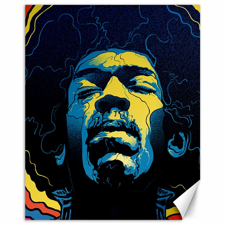 Gabz Jimi Hendrix Voodoo Child Poster Release From Dark Hall Mansion Canvas 11  x 14