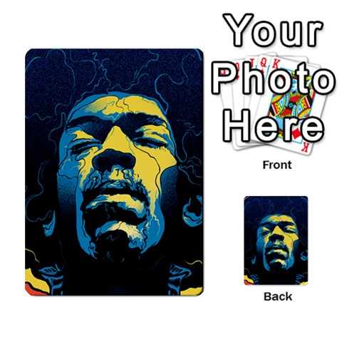 Gabz Jimi Hendrix Voodoo Child Poster Release From Dark Hall Mansion Multi-purpose Cards (Rectangle)