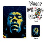 Gabz Jimi Hendrix Voodoo Child Poster Release From Dark Hall Mansion Multi-purpose Cards (Rectangle)  Back 9