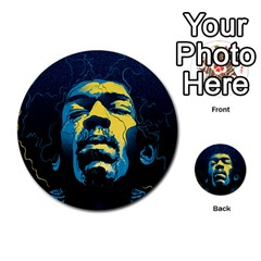 Gabz Jimi Hendrix Voodoo Child Poster Release From Dark Hall Mansion Multi Purpose Cards (round)