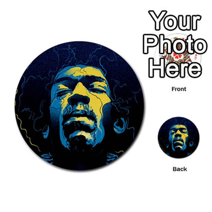 Gabz Jimi Hendrix Voodoo Child Poster Release From Dark Hall Mansion Multi-purpose Cards (Round)