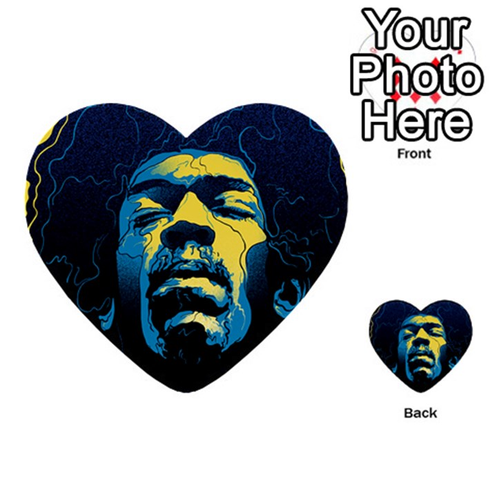 Gabz Jimi Hendrix Voodoo Child Poster Release From Dark Hall Mansion Multi-purpose Cards (Heart)