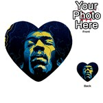 Gabz Jimi Hendrix Voodoo Child Poster Release From Dark Hall Mansion Multi-purpose Cards (Heart)  Back 6