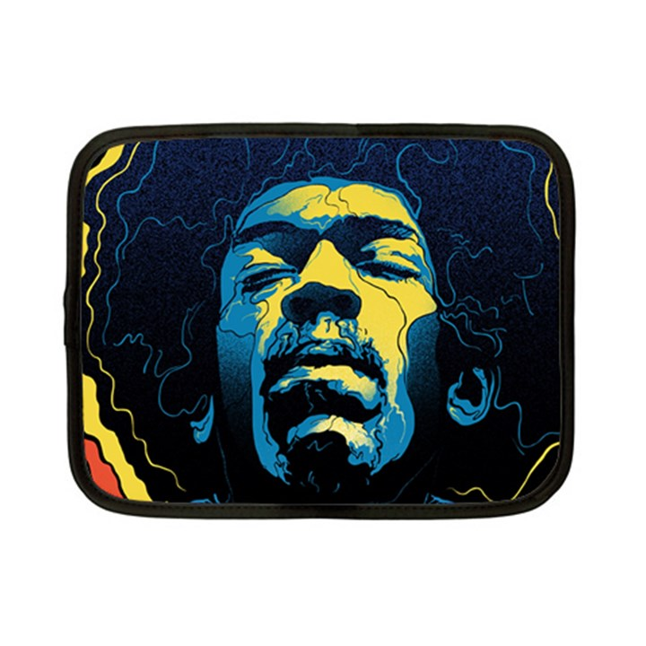 Gabz Jimi Hendrix Voodoo Child Poster Release From Dark Hall Mansion Netbook Case (Small)