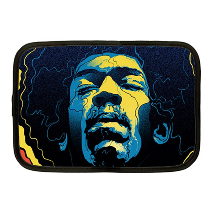 Gabz Jimi Hendrix Voodoo Child Poster Release From Dark Hall Mansion Netbook Case (Medium)