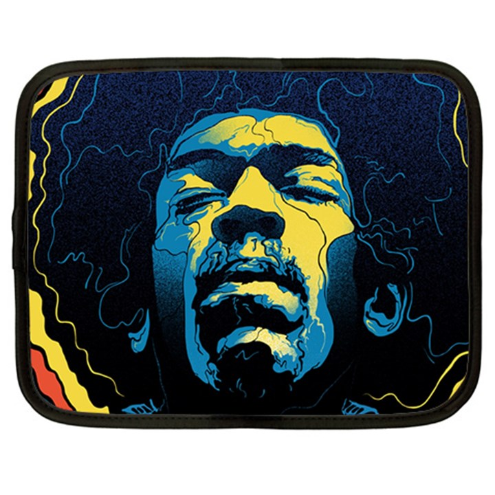 Gabz Jimi Hendrix Voodoo Child Poster Release From Dark Hall Mansion Netbook Case (Large)