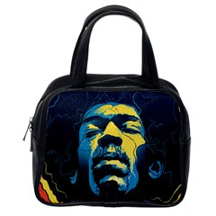 Gabz Jimi Hendrix Voodoo Child Poster Release From Dark Hall Mansion Classic Handbags (one Side)