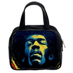 Gabz Jimi Hendrix Voodoo Child Poster Release From Dark Hall Mansion Classic Handbags (2 Sides) Front