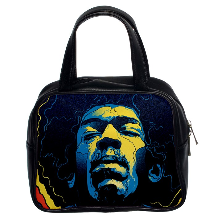 Gabz Jimi Hendrix Voodoo Child Poster Release From Dark Hall Mansion Classic Handbags (2 Sides)