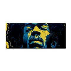 Gabz Jimi Hendrix Voodoo Child Poster Release From Dark Hall Mansion Hand Towel
