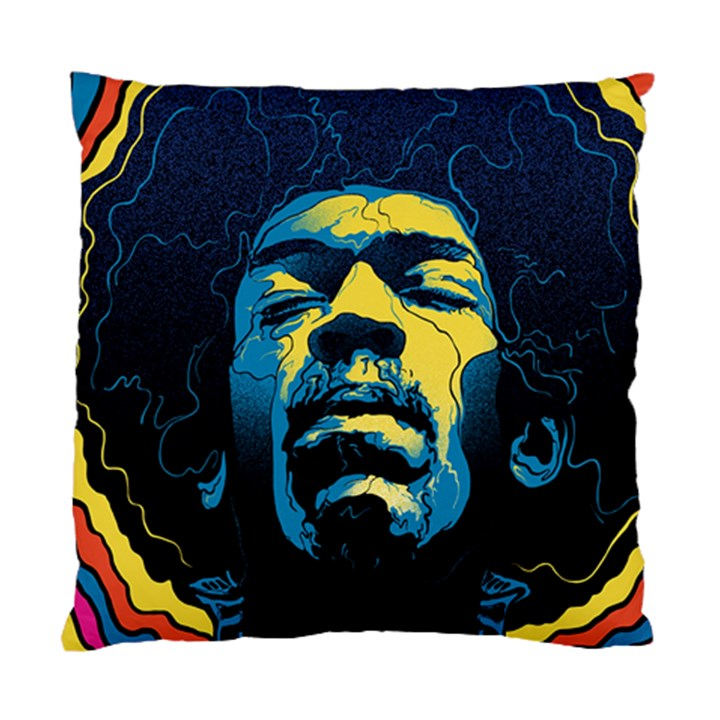 Gabz Jimi Hendrix Voodoo Child Poster Release From Dark Hall Mansion Standard Cushion Case (One Side)