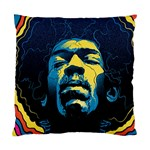 Gabz Jimi Hendrix Voodoo Child Poster Release From Dark Hall Mansion Standard Cushion Case (Two Sides) Back