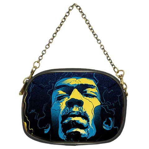 Gabz Jimi Hendrix Voodoo Child Poster Release From Dark Hall Mansion Chain Purses (Two Sides)
