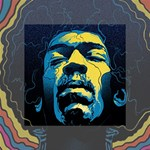 Gabz Jimi Hendrix Voodoo Child Poster Release From Dark Hall Mansion Mini Canvas 4  x 4  4  x 4  x 0.875  Stretched Canvas