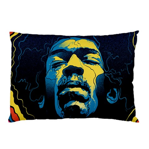 Gabz Jimi Hendrix Voodoo Child Poster Release From Dark Hall Mansion Pillow Case