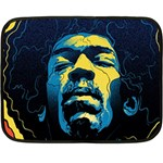Gabz Jimi Hendrix Voodoo Child Poster Release From Dark Hall Mansion Fleece Blanket (Mini) 35 x27 Blanket