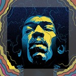 Gabz Jimi Hendrix Voodoo Child Poster Release From Dark Hall Mansion Mini Canvas 8  x 8  8  x 8  x 0.875  Stretched Canvas