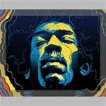 Gabz Jimi Hendrix Voodoo Child Poster Release From Dark Hall Mansion Canvas 14  x 11  14  x 11  x 0.875  Stretched Canvas