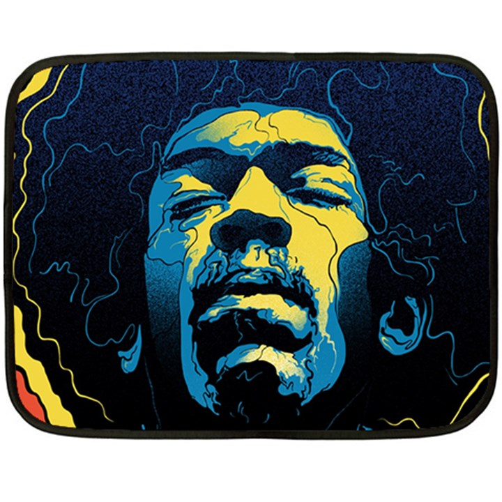 Gabz Jimi Hendrix Voodoo Child Poster Release From Dark Hall Mansion Double Sided Fleece Blanket (Mini)