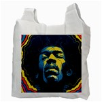 Gabz Jimi Hendrix Voodoo Child Poster Release From Dark Hall Mansion Recycle Bag (Two Side)  Back