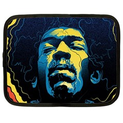 Gabz Jimi Hendrix Voodoo Child Poster Release From Dark Hall Mansion Netbook Case (XL)