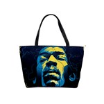 Gabz Jimi Hendrix Voodoo Child Poster Release From Dark Hall Mansion Shoulder Handbags Front